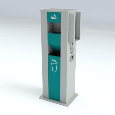 TouchFREE Automatic Hand Disinfection Station | RAL 7035-5018-9016