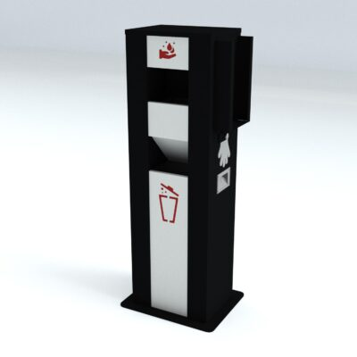 TouchFREE Automatic Hand Disinfection Station | RAL 9005-9016-3002