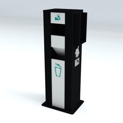 TouchFREE Automatic Hand Disinfection Station | RAL 9005-9016-5018